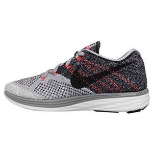Nike Flyknit Lunar 3 Grey/White/Hot Lava